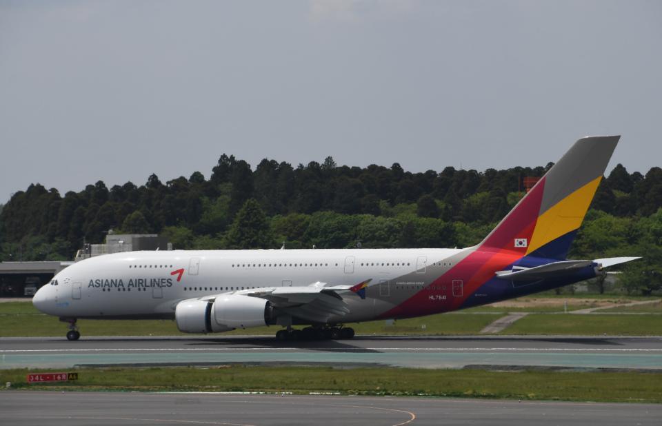 チャーリーマイクさんのアシアナ航空 Airbus A380 (HL7641) 航空フォト