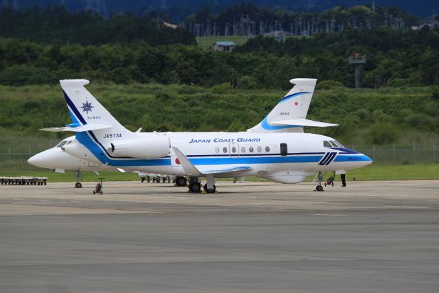 mahiちゃんさんが、静岡空港で撮影した海上保安庁 Falcon 2000EXの航空フォト(飛行機 写真・画像)