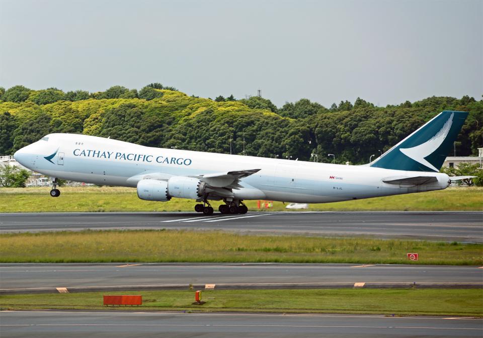 NINEJETSさんのキャセイパシフィック航空 Boeing 747-8 (B-LJL) 航空フォト