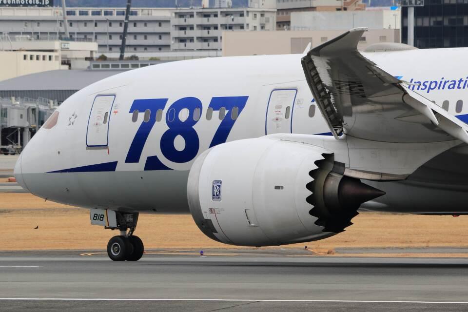 平凡なおっちゃんさんの全日空 Boeing 787-8 Dreamliner (JA818A) 航空フォト