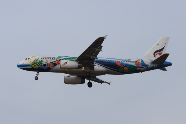 kengo.k@RJFTさんが、福岡空港で撮影したバンコクエアウェイズ A320-232の航空フォト(飛行機 写真・画像)
