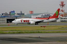 tsubameさんが、福岡空港で撮影したティーウェイ航空 737-83Nの航空フォト(飛行機 写真・画像)