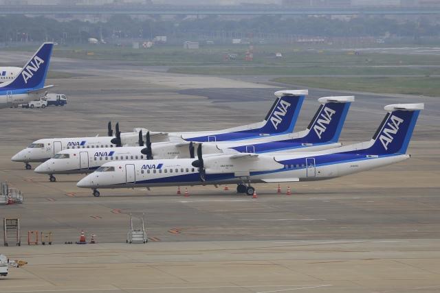 aki241012さんが、福岡空港で撮影したANAウイングス DHC-8-402Q Dash 8の航空フォト(飛行機 写真・画像)