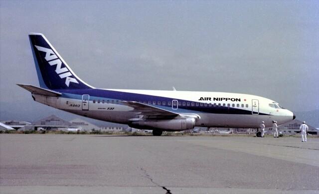 ハミングバードさんが、小松空港で撮影したエアーニッポン 737-281の航空フォト(飛行機 写真・画像)