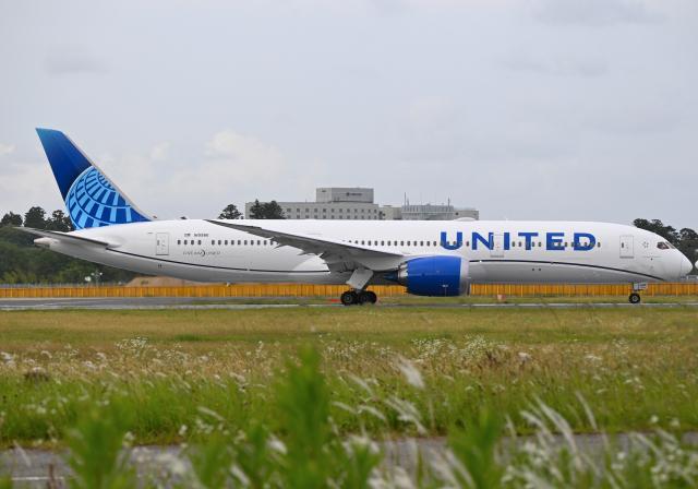 雲霧さんが、成田国際空港で撮影したユナイテッド航空 787-9の航空フォト(飛行機 写真・画像)
