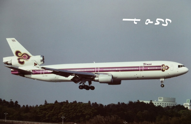 tassさんが、成田国際空港で撮影したタイ国際航空 MD-11の航空フォト(飛行機 写真・画像)