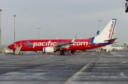 TA27さんが、オークランド空港で撮影したパシフィック・ブルー 737-8FEの航空フォト(飛行機 写真・画像)