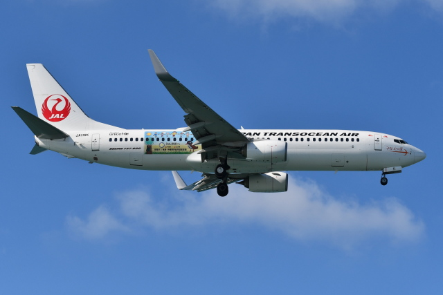 Deepさんが、那覇空港で撮影した日本トランスオーシャン航空 737-8Q3の航空フォト(飛行機 写真・画像)