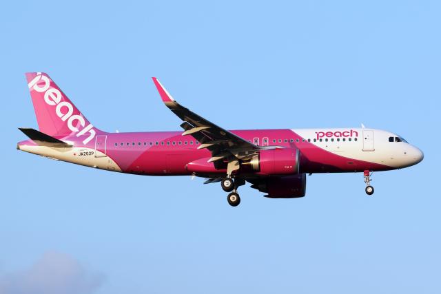 航空フォト:JA202P ピーチ A320neo