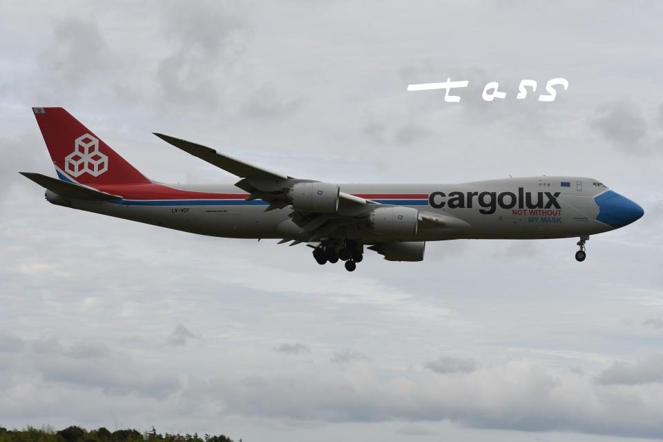 tassさんのカーゴルクス Boeing 747-8 (LX-VCF) 航空フォト