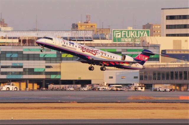 mild lifeさんが、伊丹空港で撮影したアイベックスエアラインズ CL-600-2C10 Regional Jet CRJ-702の航空フォト(飛行機 写真・画像)