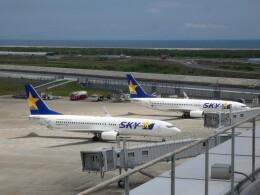 宮城の航空ファンさんが、仙台空港で撮影したスカイマーク 737-86Nの航空フォト(飛行機 写真・画像)