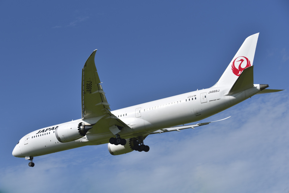 パンダさんの日本航空 Boeing 787-9 (JA866J) 航空フォト
