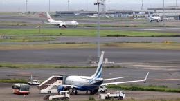 誘喜さんが、羽田空港で撮影したラスベガス サンズ 737-74U BBJの航空フォト(飛行機 写真・画像)