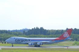 しかばねさんが、成田国際空港で撮影したカーゴルクス・イタリア 747-4R7F/SCDの航空フォト(飛行機 写真・画像)
