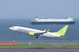 シグナス021さんが、羽田空港で撮影したソラシド エア 737-86Nの航空フォト(飛行機 写真・画像)