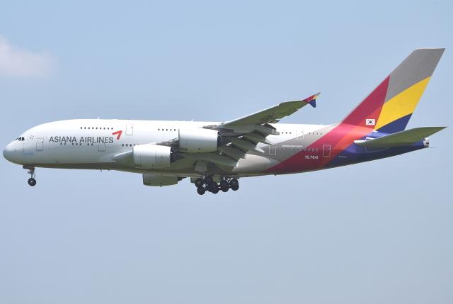 jun☆さんが、成田国際空港で撮影したアシアナ航空 A380-841の航空フォト(飛行機 写真・画像)
