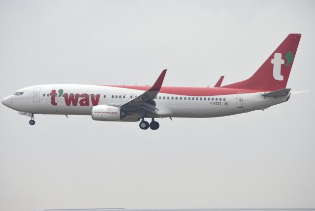 jun☆さんが、成田国際空港で撮影したティーウェイ航空 737-8ASの航空フォト(飛行機 写真・画像)