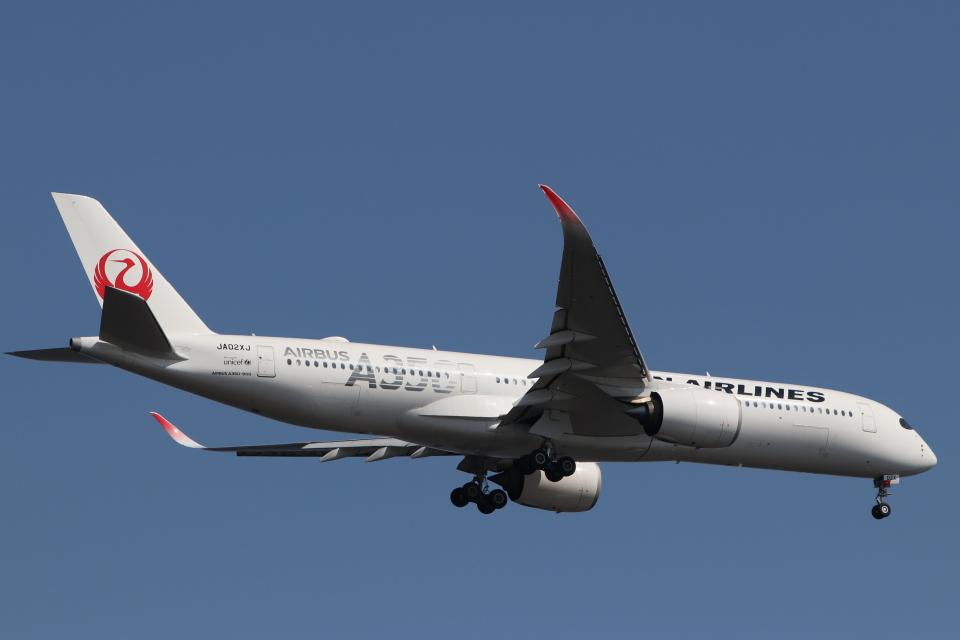 imosaさんの日本航空 Airbus A350-900 (JA02XJ) 航空フォト