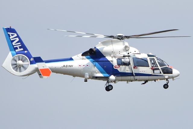 jun☆さんが、札幌飛行場で撮影したオールニッポンヘリコプター AS365N2 Dauphin 2の航空フォト(飛行機 写真・画像)