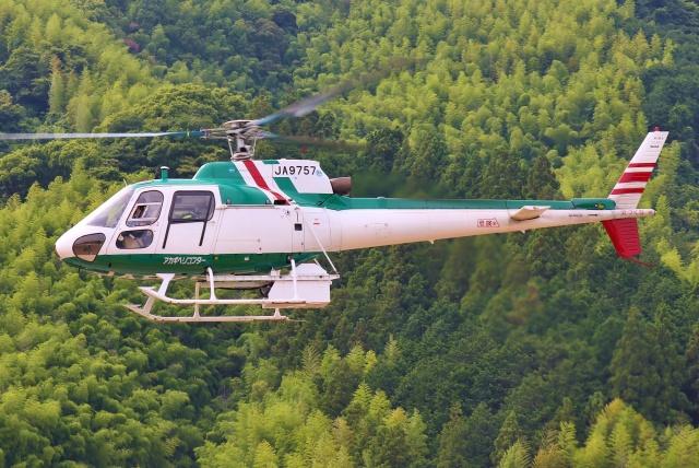 ブルーさんさんが、静岡ヘリポートで撮影したアカギヘリコプター AS350B Ecureuilの航空フォト(飛行機 写真・画像)