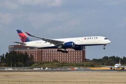 ポン太さんが、成田国際空港で撮影したデルタ航空 A350-941の航空フォト(飛行機 写真・画像)