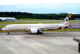 SFJ_capさんが、成田国際空港で撮影したエティハド航空 787-9の航空フォト(飛行機 写真・画像)