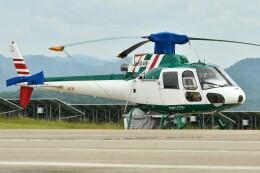 デデゴンさんが、石見空港で撮影したアカギヘリコプター AS350B2 Ecureuilの航空フォト(飛行機 写真・画像)