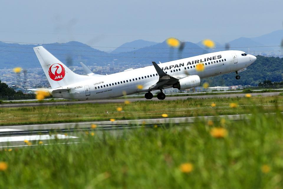 くれないさんの日本航空 Boeing 737-800 (JA328J) 航空フォト