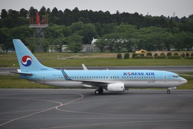 PIRORINGさんが、成田国際空港で撮影した大韓航空 737-8BKの航空フォト(飛行機 写真・画像)