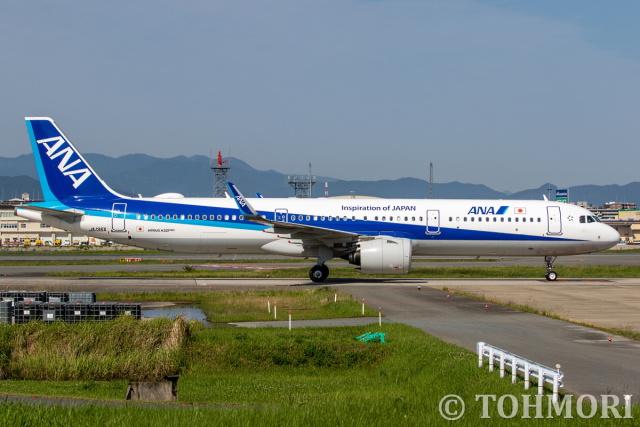 遠森一郎さんが、福岡空港で撮影した全日空 A321-272Nの航空フォト(飛行機 写真・画像)
