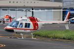 へりさんが、東京ヘリポートで撮影した朝日航洋 206B JetRanger IIの航空フォト(写真)