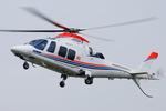 へりさんが、東京ヘリポートで撮影した朝日新聞社 A109SPの航空フォト(写真)