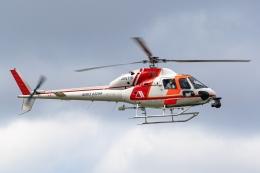 Ariesさんが、八尾空港で撮影した朝日航洋 AS355F2 Ecureuil 2の航空フォト(飛行機 写真・画像)