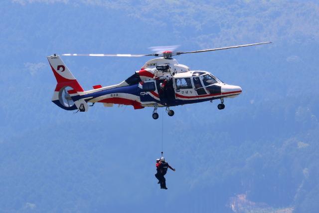 Zakiyamaさんが、熊本空港で撮影した熊本県防災消防航空隊 AS365N3 Dauphin 2の航空フォト(飛行機 写真・画像)
