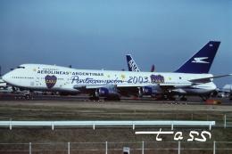 tassさんが、成田国際空港で撮影したアルゼンチン航空 747-287Bの航空フォト(飛行機 写真・画像)