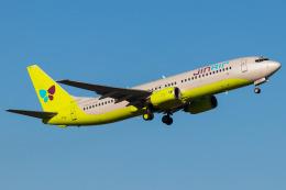 Yukio a.k.a Yu Worksさんが、福岡空港で撮影したジンエアー 737-86Nの航空フォト(飛行機 写真・画像)