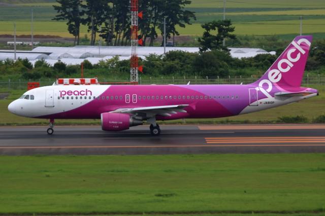 ▲®さんが、仙台空港で撮影したピーチ A320-214の航空フォト(飛行機 写真・画像)