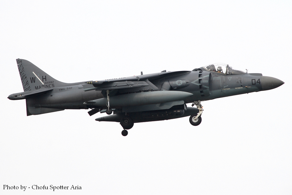 Chofu Spotter Ariaさんのアメリカ海兵隊 McDonnell Douglas AV-8B Harrier II (166287) 航空フォト