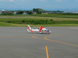 Smyth Newmanさんが、札幌飛行場で撮影した朝日航洋 AS365N3 Dauphin 2の航空フォト(飛行機 写真・画像)