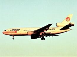 エルさんが、成田国際空港で撮影した日本アジア航空 DC-10-40Iの航空フォト(飛行機 写真・画像)