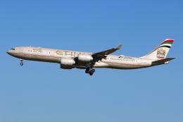 シン・マリオ先輩さんが、成田国際空港で撮影したエティハド航空 A340-541の航空フォト(飛行機 写真・画像)