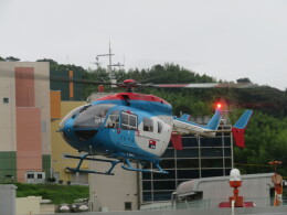 ランチパッドさんが、静岡ヘリポートで撮影した中日新聞社 BK117C-2の航空フォト(飛行機 写真・画像)