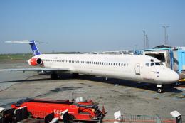 kinsanさんが、コペンハーゲン国際空港で撮影したスカンジナビア航空 MD-82 (DC-9-82)の航空フォト(飛行機 写真・画像)