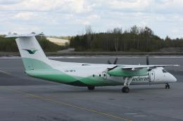 kinsanさんが、オスロ国際空港で撮影したヴィデロー航空 DHC-8-311Q Dash 8の航空フォト(飛行機 写真・画像)