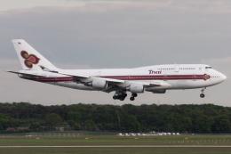 kinsanさんが、フランクフルト国際空港で撮影したタイ国際航空 747-4D7の航空フォト(飛行機 写真・画像)