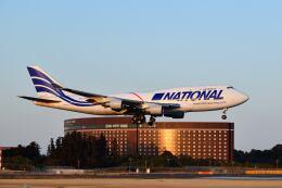 ポン太さんが、成田国際空港で撮影したナショナル・エアラインズ 747-412(BCF)の航空フォト(飛行機 写真・画像)