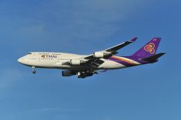 ポン太さんが、成田国際空港で撮影したタイ国際航空 747-4D7の航空フォト(飛行機 写真・画像)