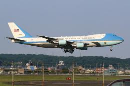 シン・マリオ先輩さんが、横田基地で撮影したアメリカ空軍 VC-25A (747-2G4B)の航空フォト(飛行機 写真・画像)