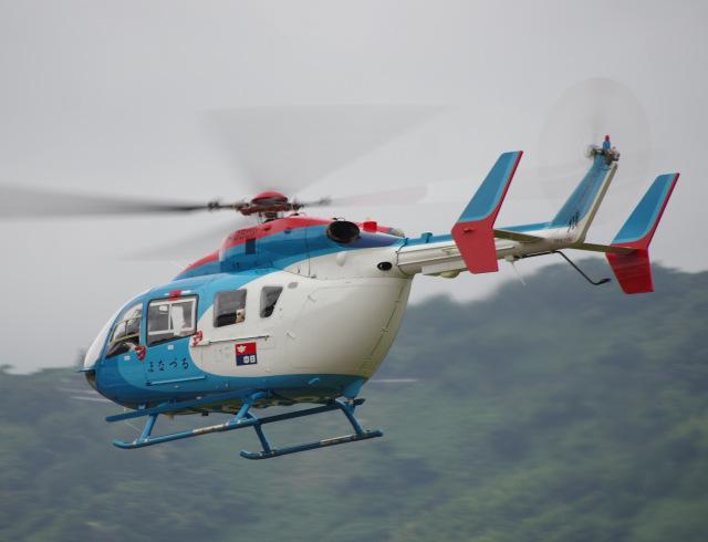 ラムさんが、静岡ヘリポートで撮影した中日新聞社 BK117C-2の航空フォト(飛行機 写真・画像)